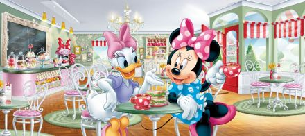Minnie Mouse & Daisy mural wallpaper 202x90cm